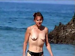 Wife, Beach, Smal empty saggy tits, Xhamster.com