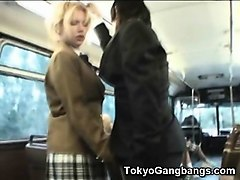 Bus, Flexible, Gagbanged in a bus, Nuvid.com