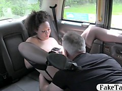 Bus, Babe, Stockings, Too girls in stockings fuck older, Gotporn.com
